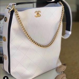 Chanel Calfskin Hobo bag w/ gold tone hardware